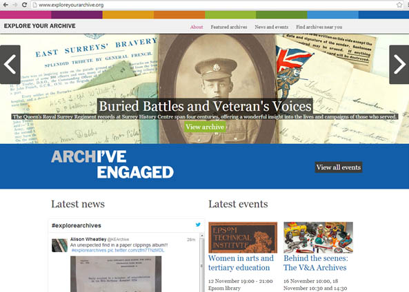 Campaign website for Explore Your Archive
