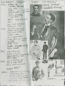 Costume designs taken from a programme for The Cherry Orchard, 1981 (Ref CHEK/TP/1/7/27)