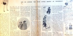 Article from Textile Distributor 22 May 1935 on marketing children'swear