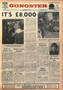 Front cover of The Gongster 2 Nov 1967