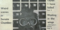 Front cover of student newspaper The Gongster 10 May 1978