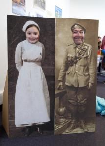 A First World War nurse and soldier at Mayfest.
