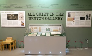 The All Quiet in the Weston Gallery exhibition in the Lakeside Arts Centre