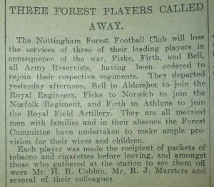 The Nottingham Guardian, 6 August 1914
