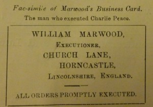 William Marwood's business card.