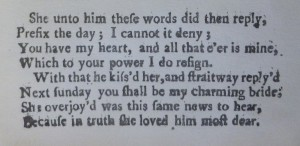 Ann Chiswick accepts John Painter's marriage proposal, taken from 'A Nottingham Tragedy'.