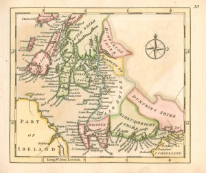 Map of the southwest of Scotland, c. 1764 (Ref: G1814.A1 COL)