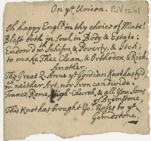 'On The Union' poems