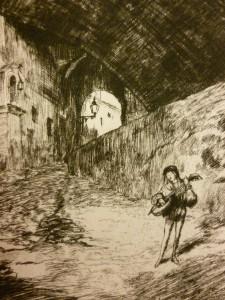 'Serenade, Old Street, Genoa' by Wilfrid Huggins