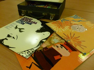 Some of the vinyl records donated to us.