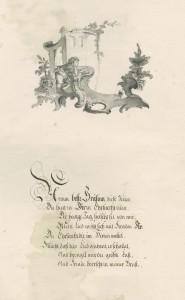 German verses dedicated to Charlotte Sophie, Countess Bentinck, 1757 (BK 7/2)