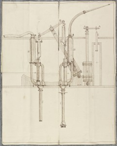 Drawing of a water pump (BK 6/1/7/28)