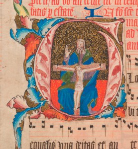 Antiphonal historiated initial