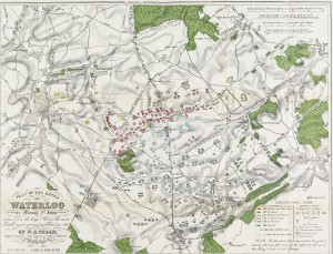 W.B. Craan, Plan of the battle of Waterloo, or, Mount St. John (Brussels, 1845) From Special Collection Pamphlet DC244.5.C7