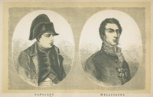 Napoleon and Wellington, frontispiece from Edward Cotton, A voice from Waterloo (5th ed, 1854). From DC241.5.C6