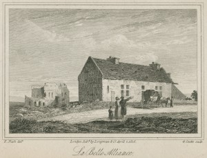 Engraving of La Belle Alliance Farm, 1816. From French Revolution Collection DC241.5.S4