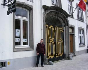 Dr Richard Gaunt outside Wellington's Headquarters, Brussels