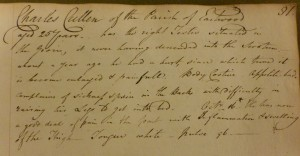 Charles Cullen's treatment as listed in Uhg O 1/1