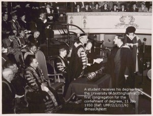 A proud student graduates July 1950 - but who is he?