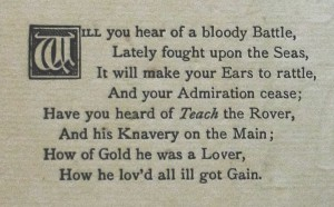 Opening verse of 'The Downfall of Piracy'
