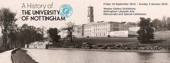 Going Global: A History of The University of Nottingham, Exhibition at the Weston Gallery, Nottingham Lakeside Arts
