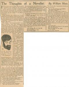 Book review of Pansies, 1929 (ref: La N 5/14)
