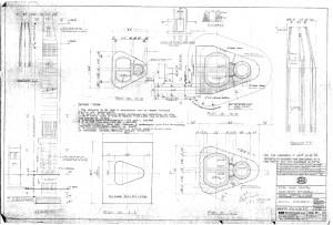 Boiler house chimney construction drawing. Image courtesy of Estates.
