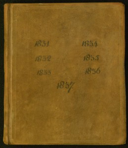 Diary of William Parsons; 1832. Front Cover