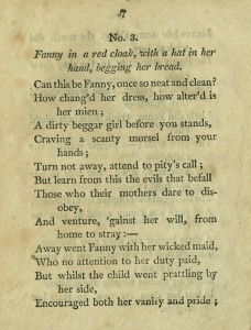 Typed page of rhyming couplets telling Fanny's story