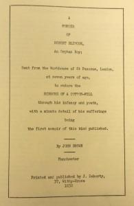A Memoir of Robert Blincoe (Ref: EMC Der 1.O22 BRO)
