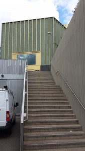 Garners Hill as of 2015 - steps at the side of Nottingham Contemporary