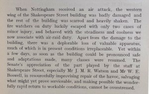 Extract from the UCN Annual Report, 1941 (Ref: Not U)