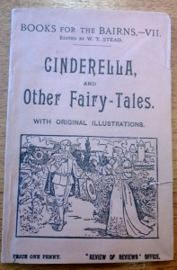 Front cover of the cheap chapbook 'Cinderella and Other Fairy-Tales'