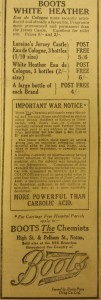 Advert from the Nottingham Post, 1915 (Ref: EMSC Periodicals: NOT)