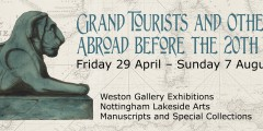Grand Tourists exhibition banner