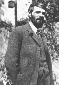 D H Lawrence wearing a suit and tie in Mexico in 1925