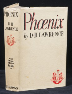 Dust jacket of Phoenix, which is plain white except for the title, author and publisher