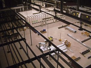 Specialist rolling shelving is installed in the former TV Studio.