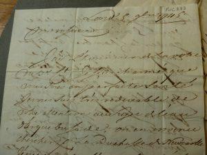 Close up photo of a handwritten letter