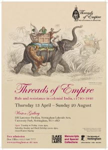 Poster for the Threads of Empire exhibition