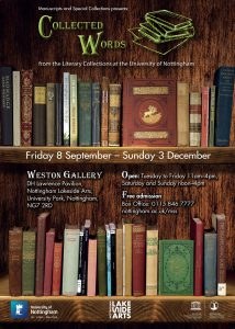 Poster for the Collected Words exhibition