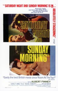Poster for the theatrical release of the film 'Saturday Night Sunday Morning'