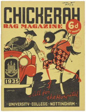 Cover of Chickerah charity carnival magazine, 1935