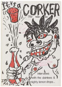 Cover of It's a corker showing a demonic caricature of a shirtless man holding a bottle with the cork popping out