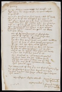Handwritten presentment bill naming Mrs Anne Vaux, c.1614 (AN/PB 295/5/35)