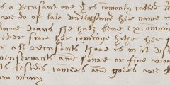 Detail from presentment bill, Thorney, c.1614 (AN/PB 295/5/35)