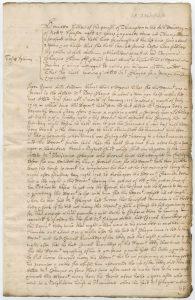 Handwritten document in Latin and English