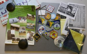 Flyers, merit badges and photos from the University of Nottingham Scout and Guide Society archive