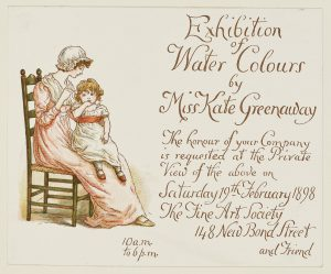 Illustration of a mother in regency dress and cap with her daughter on her lap
