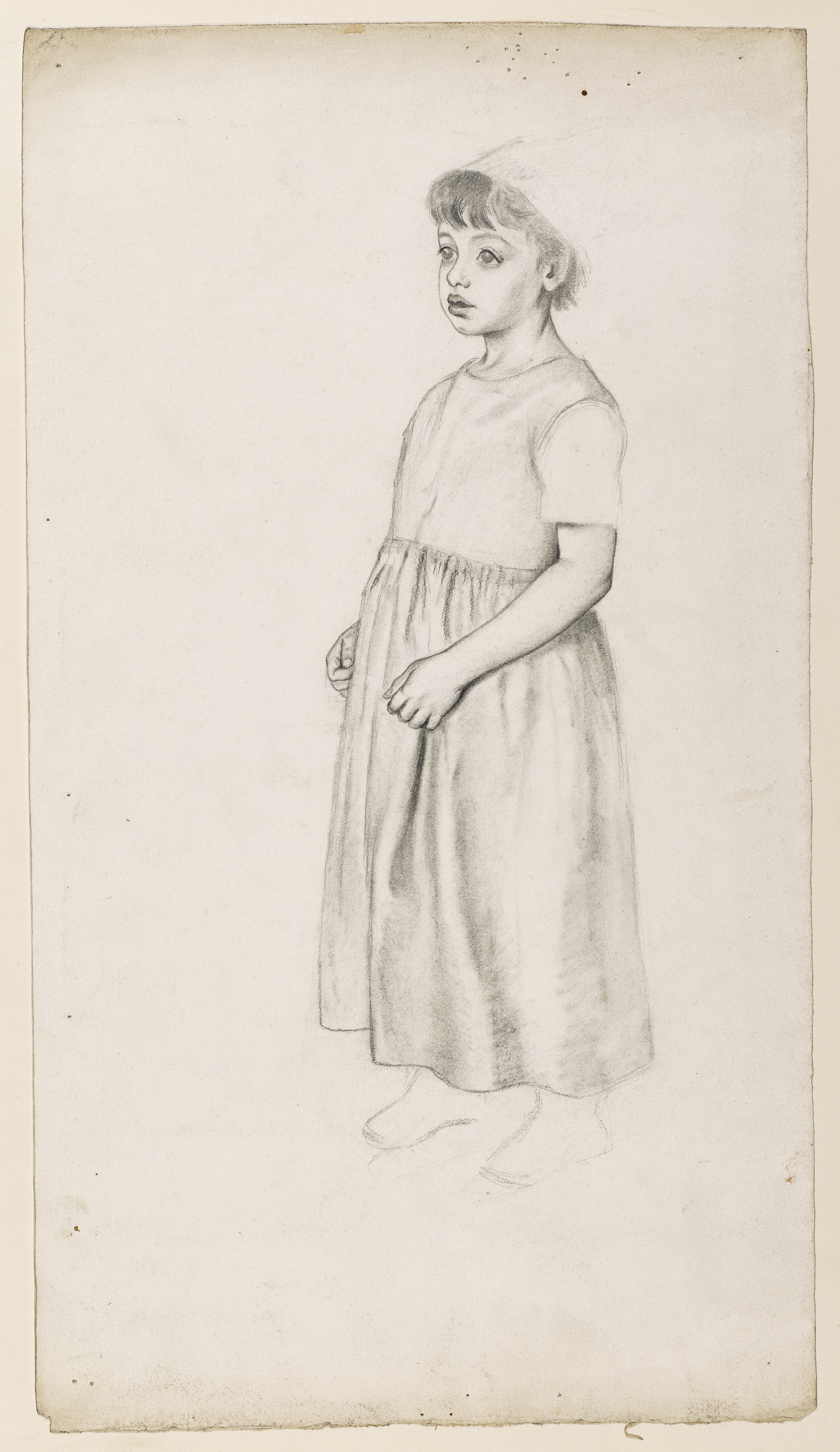 Original pencil sketch of a girl by kate greenaway from kate gr